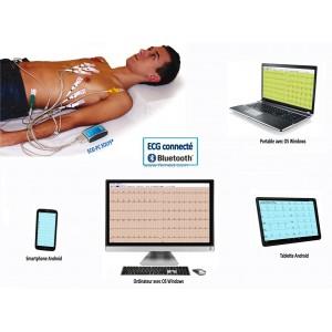 ECG connecté PC en Bluetooth® avec analyse et interprétation